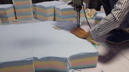 婴幼儿针织内衣服装工厂裁床过程--传琪娃