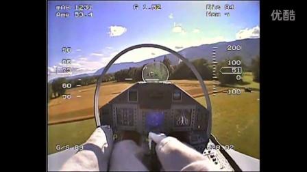 真会玩!第一人称视角遥控喷气式飞机