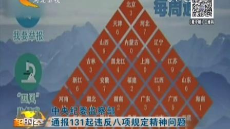 中央纪委监察部 通报131起违反八项规定精神问题 看今朝 160108