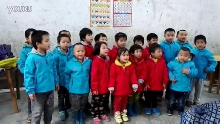 2016年1月广西温暖行,弄花教学点孩子唱国歌