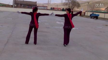 海原,树台,堡子台广场舞[双人舞]在本庄广场---欢歌喜庆