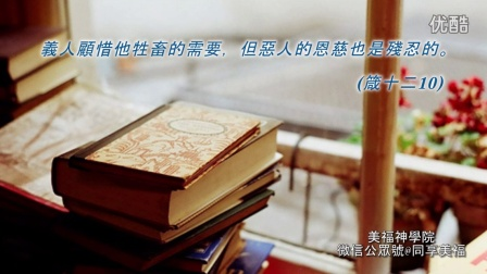 灵修朗诵《圣经智慧书•箴言书•90 动机》