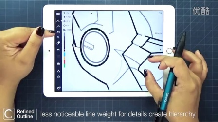 概念画板:使用导入的参考图来画漫威钢铁侠