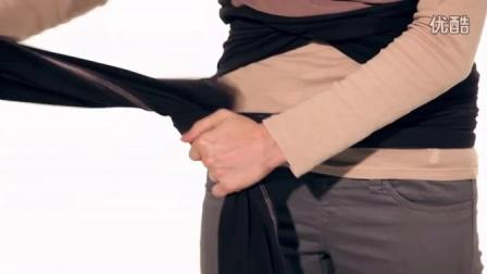 包裹式婴儿背巾 新生儿包裹法