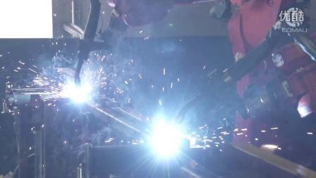 Robotics line 11- Comau Robot NS 16 - Twin Arm robotized arc welding cell