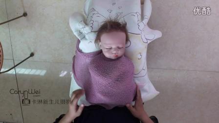 卡琳摄影新生儿包裹宝宝包裹教程