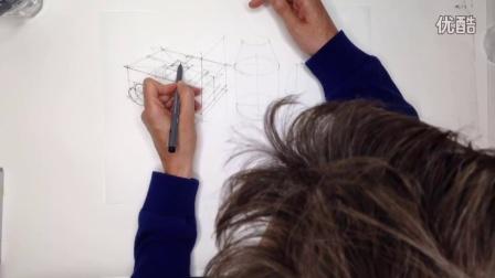 工业设计手绘几何体两点透视画法教程
