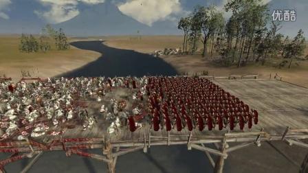 【罗马2全面战争】这是一场屠杀!300斯巴达5000波斯步兵守桥战
