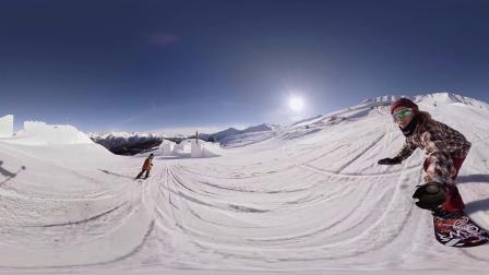 [360°全景]阿尔卑斯山滑雪,极限运动