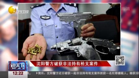 沈阳警方破获非法持有枪支案件 说天下 160622