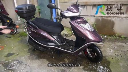 洗车机清洗摩托车视频 融祥环保科技 亿力洗车机南京总代批发