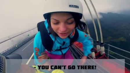 必须没收装备!洋妞在中国跳伞拦也拦不住