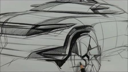 韩国设计师Sangwon Seok马克笔手绘SUV汽车设计教程