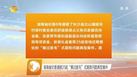 湖南省纪委通报25起 雁过拔毛 式腐败问题典型案件 20160809 午间新闻