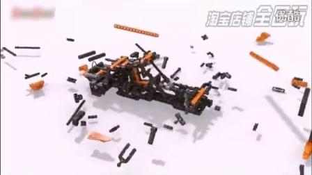 儿童益智拼装积木颗粒状拼装玩具越野赛车