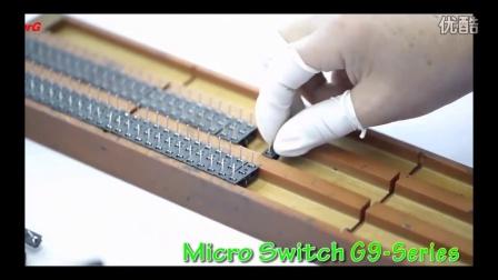 冠泰电子小型防水防尘微动开关G9系列产品视频