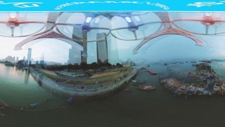 全景航拍深圳渔民生活 【完美幻境Eyesir全景相机】