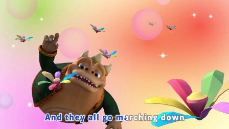 【昆塔】呼呼收音机儿歌3D版-The Ant is Go Marching