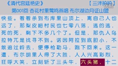 《清代宫廷艳史》第001回 视频朗读 古典文学 小说朗读