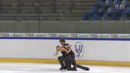 2016年花滑少年大奖赛德国站 - 冰舞短舞 - 第一名 - Rachel PARSONS/Michael PARSONS