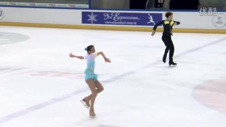 2016年花滑少年大奖赛德国站 - 双人短节目 - 第五名 - 韩悦/杨泳超