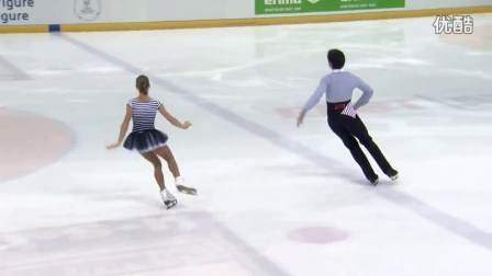 2016年花滑少年大奖赛德国站 - 双人短节目 - 第一名 - Anastasia MISHINA / Vladislav MIRZOEV