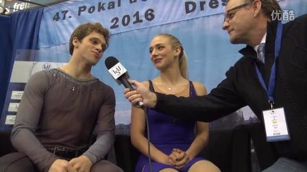 2016年花滑少年大奖赛德国站 - 冰舞第一名 - Rachel PARSONS / Michael PARSONS赛后采访