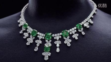 海瑞温斯顿祖母绿钻石项链
