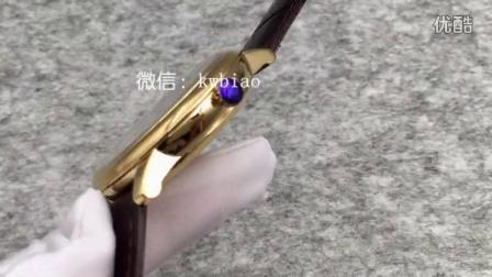 视频:外观展示,MK厂碟飞两针版,黄金壳蓝面棕色皮带