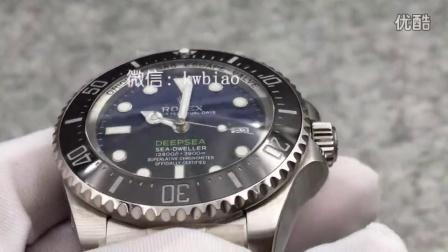 视频:外观展示,N厂V7版劳力士渐变蓝鬼王,2836机芯