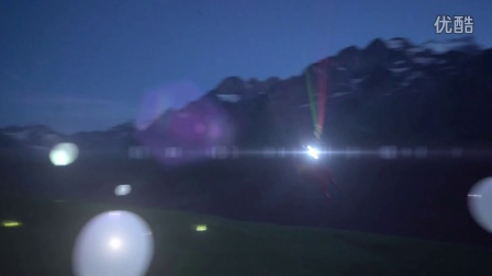 FLYING LIGHTS ★ JB Chandelier is paragliding with headlamps