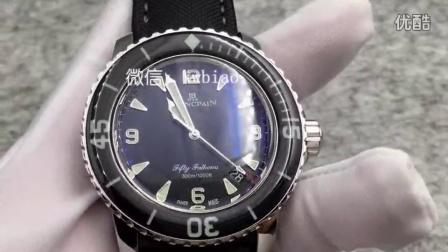 视频:外观展示,N厂宝珀五十寻黑色,瑞士2836机芯