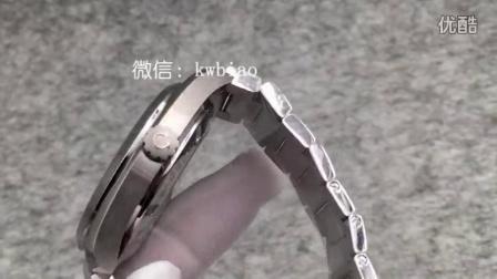 视频:外观展示,KW厂海马蓝黄针钢带