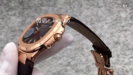 视频:外观展示,V6厂百达翡丽鹦鹉螺,玫瑰金壳灰面棕皮