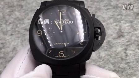 视频:外观展示,KW厂沛纳海438,全陶瓷表壳表带,上海机芯