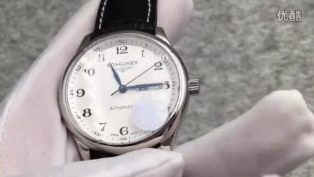 视频:外观展示,JF厂浪琴名匠双历,白壳黑皮