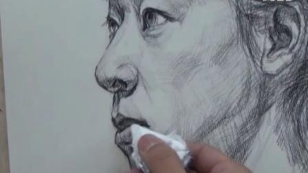 上海艺术合子美术教育沈成老师女青年素描示范