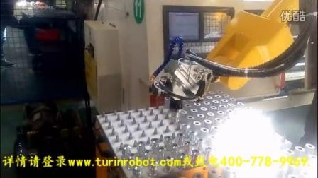 图灵机器人数控加工中心铝棒上下料