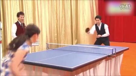 福原爱夫妇单挑乒乓球 吊打的不是球是单身狗