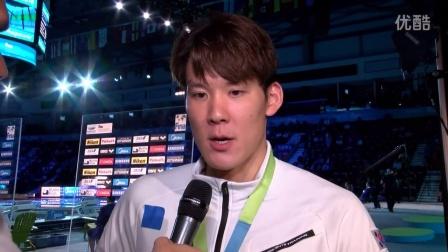 男子200米自由泳冠军朴泰桓访谈(2016FINA温莎世界游泳锦标赛)