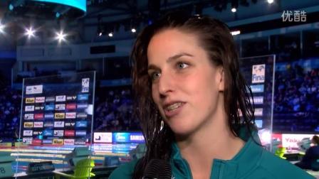 女子100自冠军访谈Brittany Elmslie(2016FINA温莎世界游泳锦标赛)