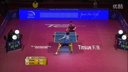 2106国际乒联总决赛 男单1/4决赛 郑荣植vs庄智渊