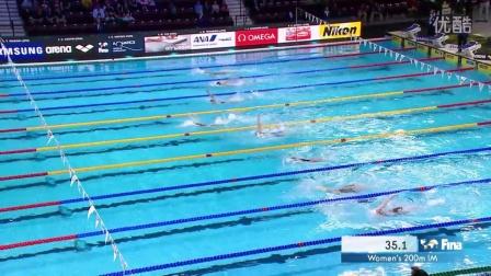 Katinka Hosszu(霍斯祖)采访:女子200米混合泳夺冠(2016FINA温莎世界游泳锦标赛)