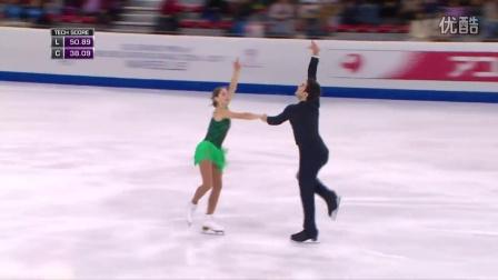 花滑少年大奖赛——双人滑冠军——MISHINA/MIRZOEV RUS——自由滑