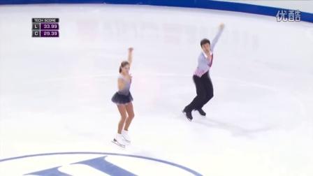 花滑少年大奖赛——双人滑冠军——MISHINA/MIRZOEV RUS——短节目