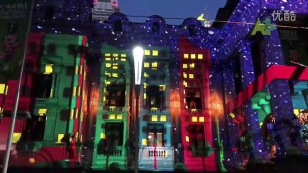 墨尔本圣诞灯光秀 浓浓的圣诞气息扑面而来