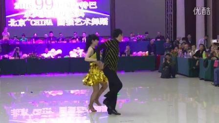 唐山吉舞老师和舞伴儿在圆强艺术节上表演吉特巴(跳舞网录制)