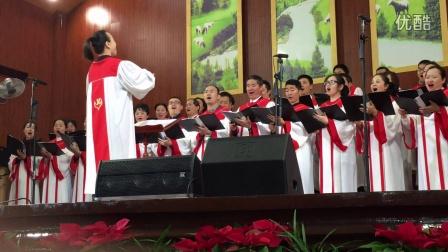 献唱2上海浦东新区南片(雅歌)联合诗班,上海浦东新区南片青年事工组庆祝圣诞2016-12-17
