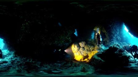 台湾蘭嶼藍洞潜水360°拍摄
