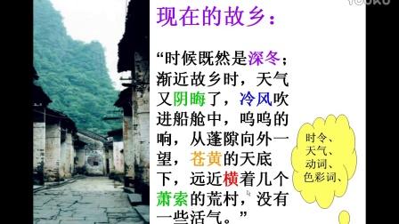 初中语文微课视频《故乡》